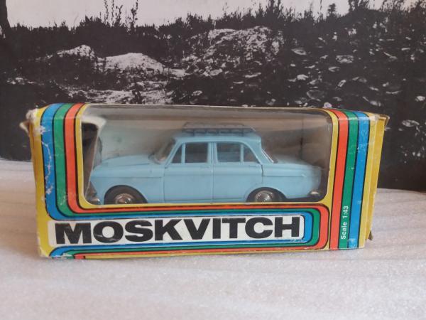 Москвич-412ИЭ с багажником (Тантал-Агат-Радон (Саратов)) [1969г., голубой, 1:43]