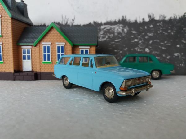 Москвич-427 (А4) (Тантал) [1967г., светло-голубой, 1:43]