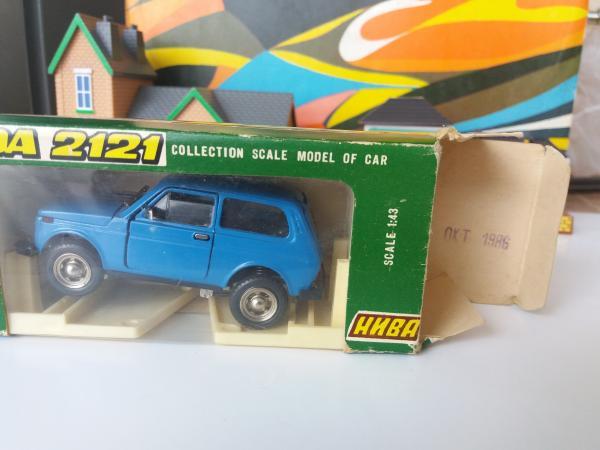 """ВАЗ-2121 """"Нива"""" А20 (Агат, Радон) [1977г., голубой, 1:43]"""