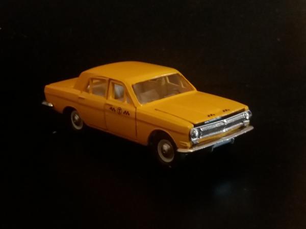 ГАЗ-24-01 такси а14 (Тантал-Радон-Агат) [1970г., желтый, 1:43]