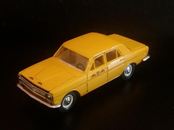 ГАЗ-24-01 такси (Тантал-Радон-Агат) [1970г., желтый, 1:43]